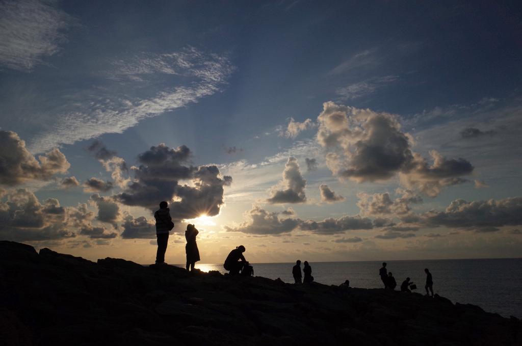 東尋坊の夕陽