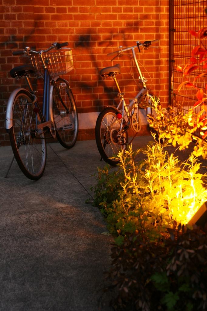 赤煉瓦と自転車