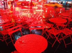 Rainy Red in Manhattan