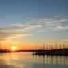 夜明けのヨットハーバー