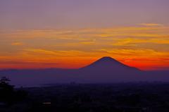 夕富士片瀬山