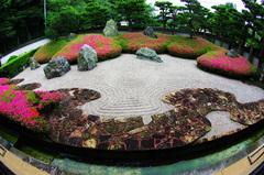 魚(眼)の鎌倉光明寺石庭