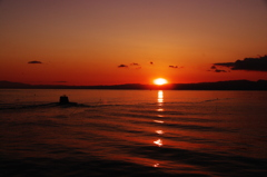 夕照片瀬漁港