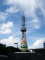 ウサビッチ只今逃走中~ にょ〜ん!名古屋テレビ塔で記念撮影♪
