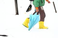 雪の帰り道