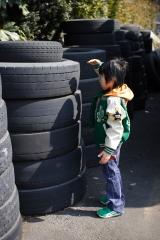 タイヤと背比べ
