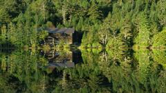 白駒池と白駒山荘