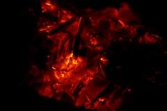 焚き火の後