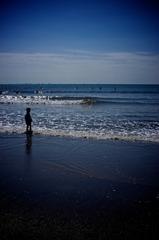 海岸の少年