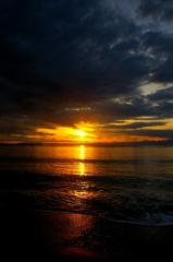 逗子海岸(冬の夕照)