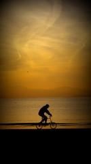 影絵小屋・逗子海岸(自転車が行く)