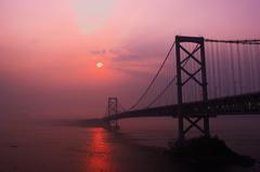 大鳴門橋の夕暮れ