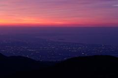 江の島が見える朝