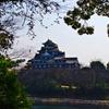 岡山城を望む