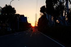 夕日、、沈みます。
