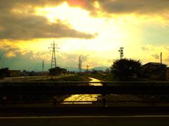 敦賀の西日