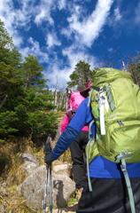 両親と登山