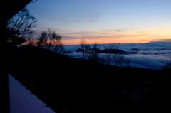 雲取山荘からの雲海