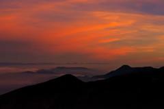 赤岳の朝焼け