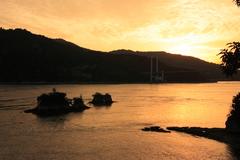 鶏小島の夕暮れ