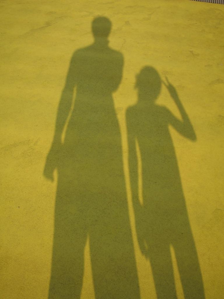 親子で影撮影