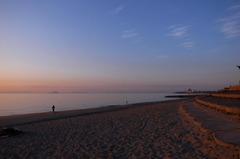 夕景の海岸