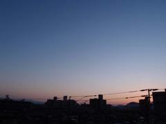 夕日が沈んだ後