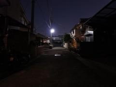 玄関先の夕景2