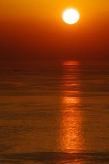 静かな夕日