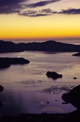 暮れる大島海峡