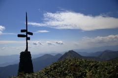 谷川岳の標識