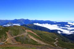 乗鞍岳の秋の始まり