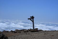 雲海と道標