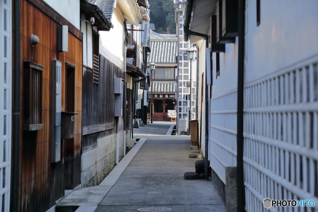 倉敷の街並み 朝