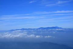 富士山を見ながらの登山
