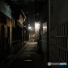 倉敷の街並み 夜