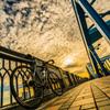ウロコ雲と自転車