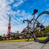 東京タワーと自転車