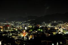 ハイパーモールメルクス長崎から見た夜景