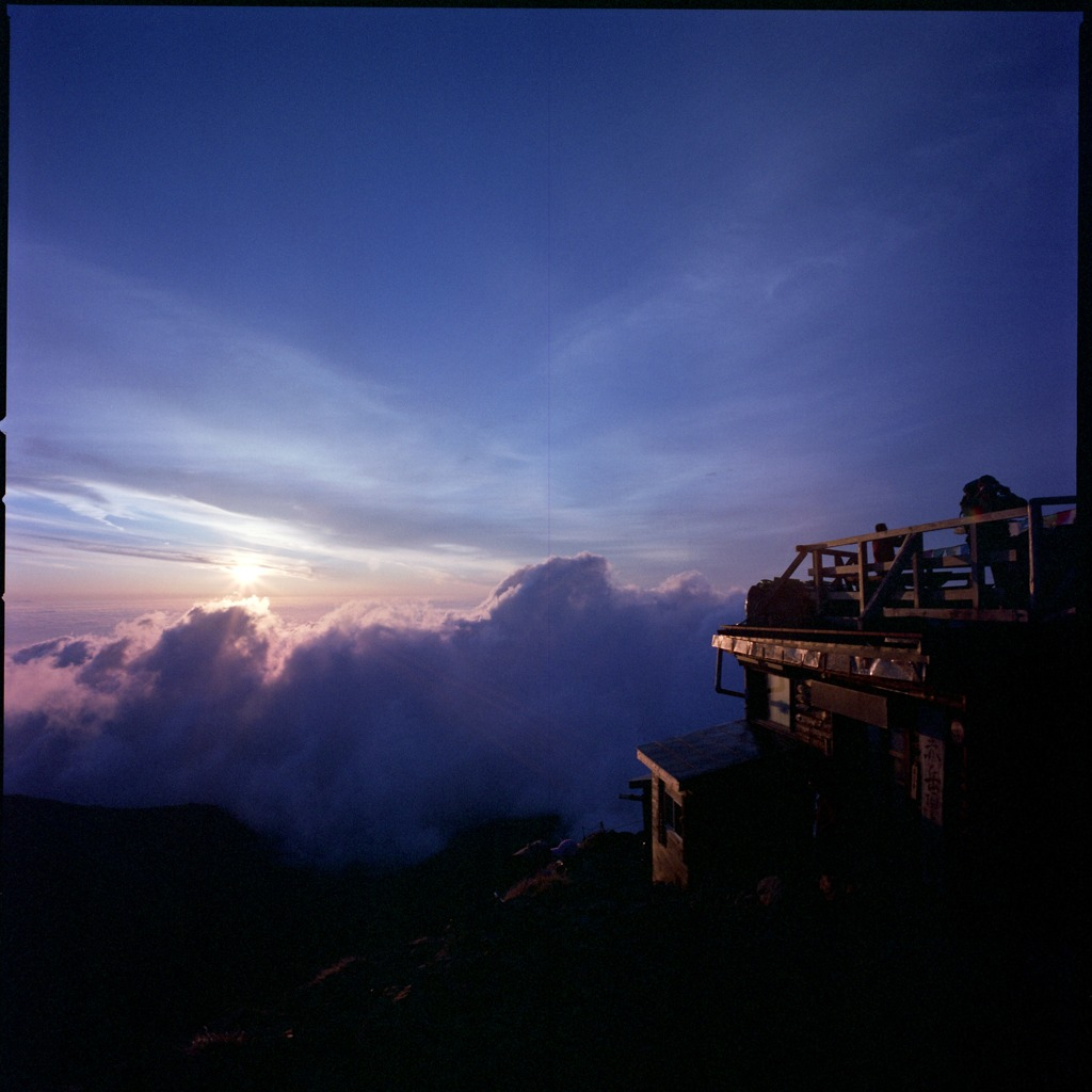 赤岳の夕日