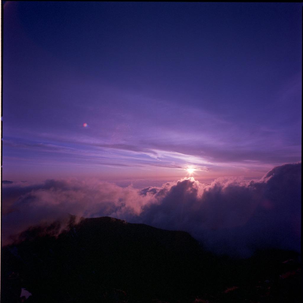 赤岳の夕日2