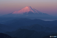 塔ノ岳からの紅富士