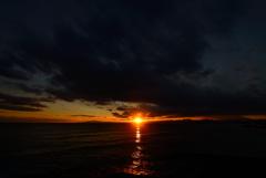 稲村ケ崎からの夕陽