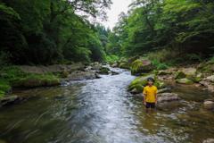 summer camp - 川泳ぎ