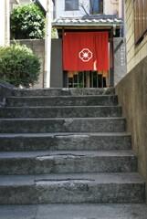 階段のある街