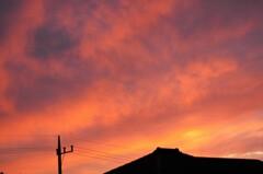 昨日の夕焼け空