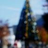 真昼のクリスマスツリーイルミネーション