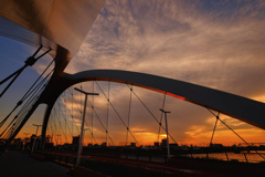 Sunset and arch