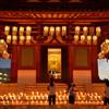 蝋燭に灯る四天王寺