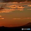 富士山のある夕景